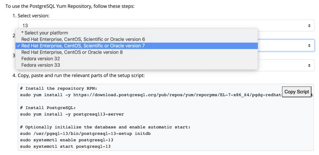 Steps to Install PostgreSQL
